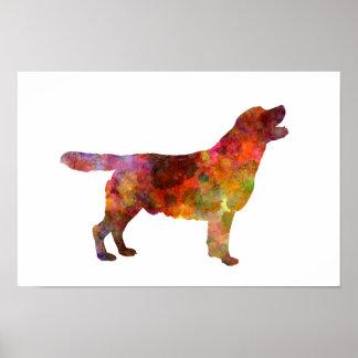 Labrador retriever 01 in watercolor 2 poster