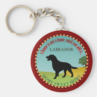 Labrador Retriever Basic Round Button Key Ring