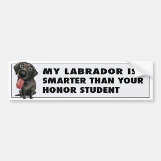 Labrador Retriever (Black) Honor Bumper Sticker