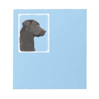 Labrador Retriever Black Painting Original Dog Art Notepad