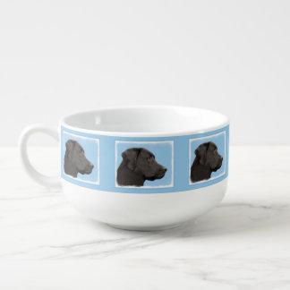 Labrador Retriever Black Painting Original Dog Art Soup Mug