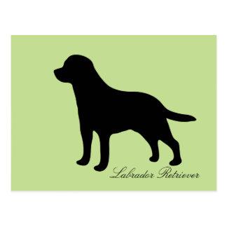 Labrador Retriever black silhouette dog postcard