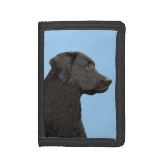 Labrador Retriever (Black) Tri-fold Wallets