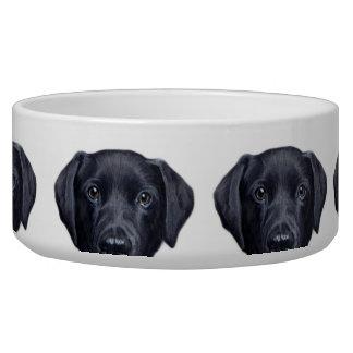 Labrador Retriever black water bowl
