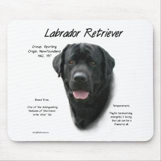 Labrador Retriever (blk) History Design Mouse Pad
