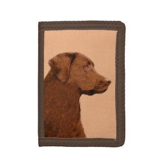 Labrador Retriever (Chocolate) Tri-fold Wallet