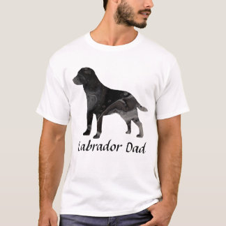 Labrador Retriever Dad Shirt Top Clothing Black