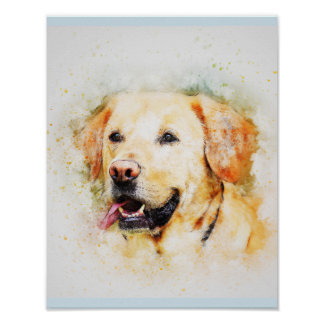 Labrador Retriever Dog Art Portrait Poster