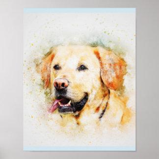 Labrador Retriever Dog Art Portrait Poster