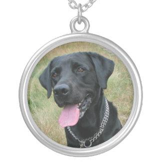 Labrador Retriever dog black necklace, gift idea