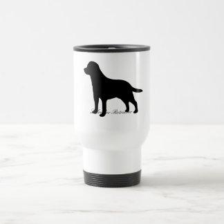 Labrador Retriever dog black silhouette travel mug