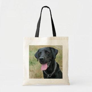 Labrador Retriever dog black tote bag, gift idea Budget Tote Bag