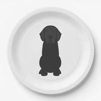 Labrador Retriever Dog Cartoon 9 Inch Paper Plate