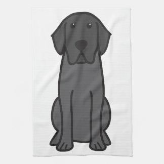 Labrador Retriever Dog Cartoon Hand Towels