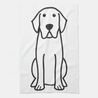 Labrador Retriever Dog Cartoon Kitchen Towel