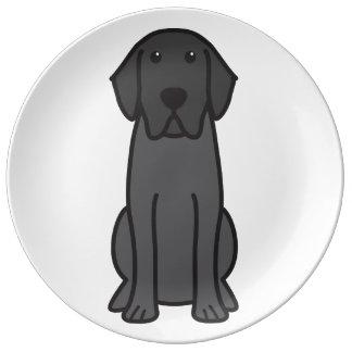 Labrador Retriever Dog Cartoon Porcelain Plates