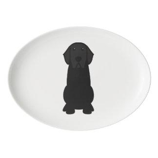 Labrador Retriever Dog Cartoon Porcelain Serving Platter