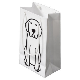 Labrador Retriever Dog Cartoon Small Gift Bag
