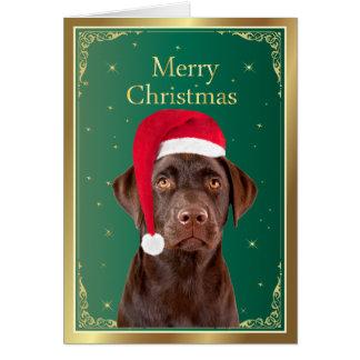 Labrador Retriever dog christmas card