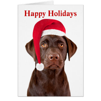Labrador Retriever dog custom holiday Christmas Greeting Card