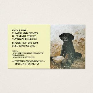LABRADOR RETRIEVER DOG & DECOY ~BUSINESS CARDS! BUSINESS CARD