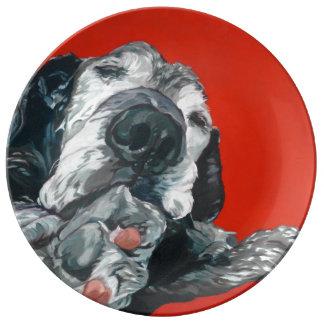 Labrador Retriever Dog Porcelain Plate