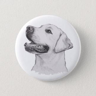 Labrador Retriever Dog Portrait Drawing 6 Cm Round Badge