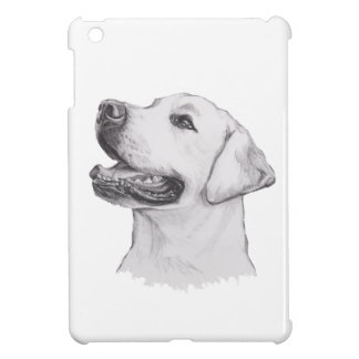 Labrador Retriever Dog Portrait Drawing Cover For The iPad Mini