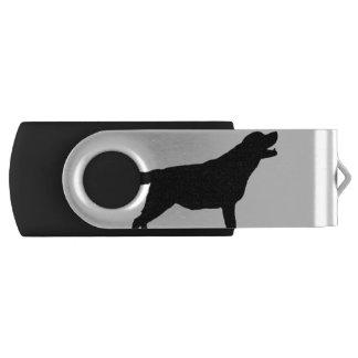 Labrador Retriever hunting dog Silhouette Swivel USB 2.0 Flash Drive