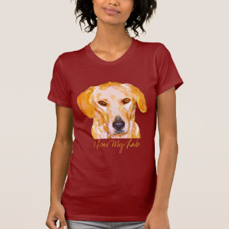 Labrador Retriever in Dazzling Yellows Clothing T-Shirt