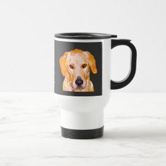 Labrador Retriever in Dazzling Yellows Travel Mug
