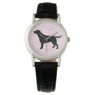 Labrador Retriever in Silhouette Wrist Watches