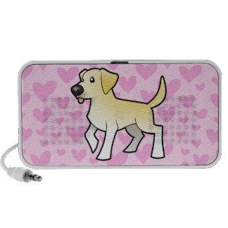 Labrador Retriever Love (add a pattern) Laptop Speakers