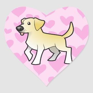 Labrador Retriever Love Heart Sticker