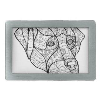 Labrador Retriever Mandala Belt Buckle