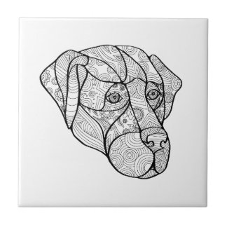 Labrador Retriever Mandala Ceramic Tile
