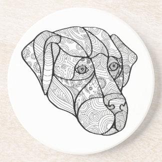 Labrador Retriever Mandala Coaster