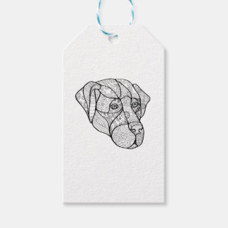 Labrador Retriever Mandala Gift Tags