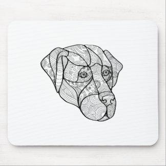 Labrador Retriever Mandala Mouse Pad