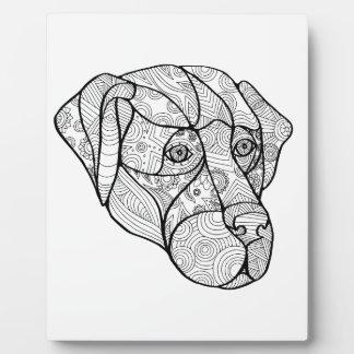 Labrador Retriever Mandala Plaque