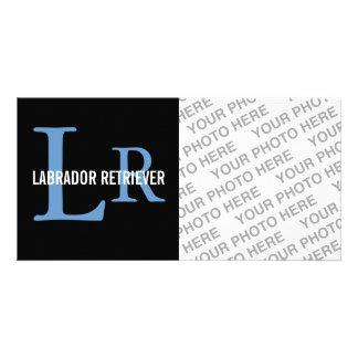 Labrador Retriever Monogram Customized Photo Card