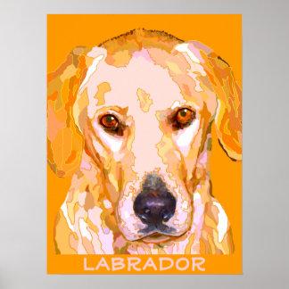 Labrador Retriever Painting Poster