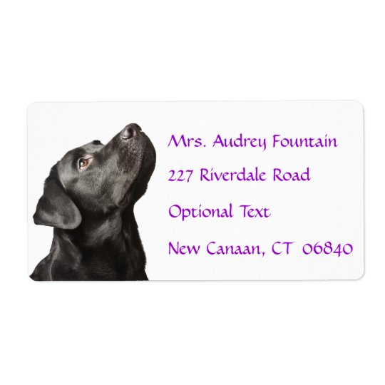 Labrador Retriever Personalised Name Address Label