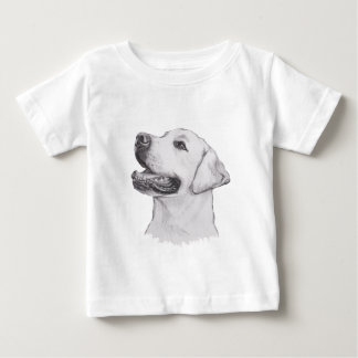 Labrador Retriever profile Portrait Drawing Baby T-Shirt