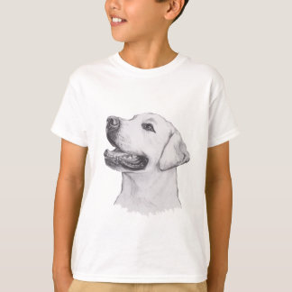 Labrador Retriever profile Portrait Drawing T-Shirt