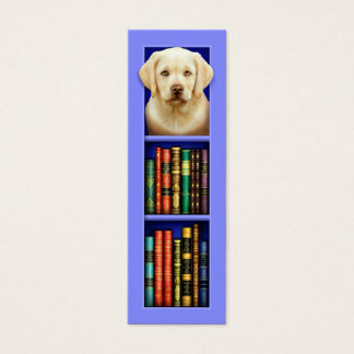 Labrador Retriever Puppy Blue Bookmark Mini Business Card
