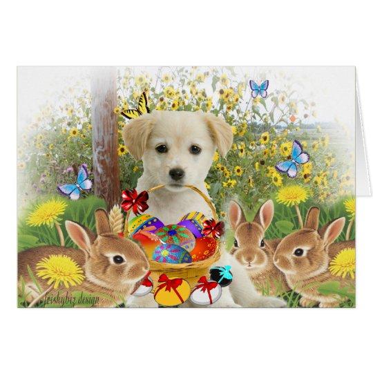 Labrador Retriever Puppy (Easter Egg Hunt) Card