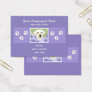 Labrador Retriever Puppy Painting Original Dog Art Business Card