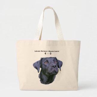 Labrador Retriever Puppy V Remote Control Large Tote Bag