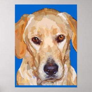 """Labrador Retriever """"Reggie"""" Poster"""